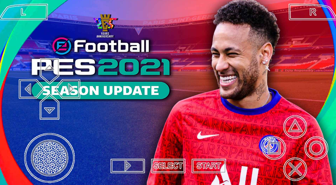 PES 2021 ppsspp iso download with ps4 camera